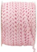 May Arts 0.3cm Wide Ribbon, Pink Ric Rac