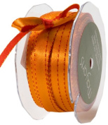 May Arts 1cm Wide Ribbon, Red and Orange Satin