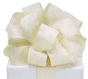 #9 Ivory Taffeta Wired Ribbon