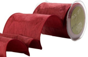 May Arts 10cm Wide Ribbon, Burgundy Solid