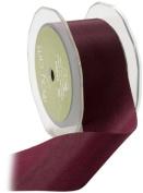 May Arts 3.8cm Wide Ribbon, Burgundy Taffeta