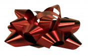 Premier Packaging AMZ-SB313 100 Count Splendorette Star Bows, 7cm by 36cm Loop, Red