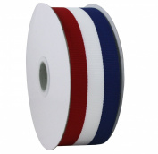 "Jascotina Red White and Blue Grosgrain Ribbon 1.5""x25 Yard Spool"