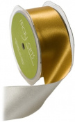 May Arts 3.8cm Wide Ribbon, Gold and Silver Reversible