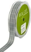 May Arts 1.6cm Wide Ribbon, Grey Plaid