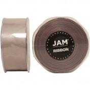 Silver Satin 3.8cm thick x 25 yards Spool of Double Faced Satin Ribbon - Sold individually