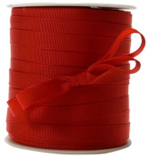 May Arts 1cm Wide Ribbon, Red Grosgrain