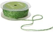 May Arts Ribbon, Parrot Green Metallic String