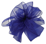 Offray Wired Edge Encore Sheer Craft Ribbon, 6.4cm Wide by 25-Yard Spool, Royal