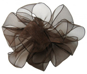 Offray Wired Edge Encore Sheer Craft Ribbon, 6.4cm Wide by 25-Yard Spool, Chocolate