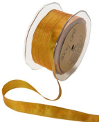 May Arts 1.6cm Wide Ribbon, Orange and Parrot Green Iridescent