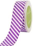 May Arts 3.8cm Wide Ribbon, Purple Grosgrain Stripe