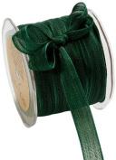 May Arts 1.6cm Wide Ribbon, Green Mesh