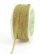May Arts 0.6cm Wide Ribbon, Gold Chain Cord
