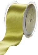 May Arts 7.6cm Wide Ribbon, Olive Satin