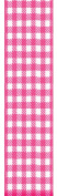 Offray Neo Gingham Cheque Craft Ribbon, 3.8cm Wide by 10-Yard Spool, Hot Pink