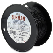 Surflon Size 4 - 60-Pound Break 1000-Feet Crimping Picture Wire Nylon Coated Stainless Steel, Black