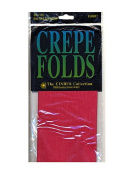 Cindus Crepe Paper Folds flame red [PACK OF 6 ]