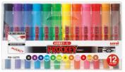 Uni Prockey Fine Point and Bold Point Marker Pen 12-colour Set PM150TR12CN