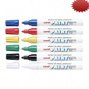 Paint Marker, Medium Tip, Oil Based, Quick Drying, Weather Resistant, Asst, 6/ST SAN63630