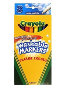 . Classic Colour Washable Markers fine tip pack of 8 [PACK OF 4 ]