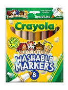 . Washable Markers -- Multicultural Colours box of 8 [PACK OF 4 ]
