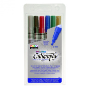 Uchida 125-6A Marvy Chisel Point Pen Tip Calligraphy Paint Marker Set