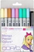 Copic Markers 9-Piece Ciao Manga Set, Pastel