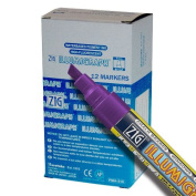 Zig Illumigraph High Fluorescent Wet Erasable 6mm Violet Paint Markers - Box of 12