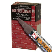 Zig Posterman Wet-Wipe 6mm Burnt Umber Paint Markers - Box of 12