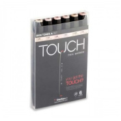 ShinHan Touch Twin Marker Set 6S Skin Tones A