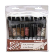 CHAOF9 - Wood Tone Markers In Pouch