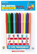 10 Pack NEWELL CORPORATION MARKER SET MR SKETCH 10 colour SET