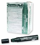 Pentel Arts Wet Erase Chalk Marker, Jumbo Tip, Black Ink, Box of 12
