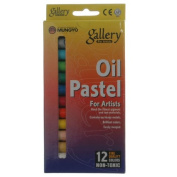 Mungyo Gallery Oil Pastels Cardboard Box Set of 12 Standard - Fluorescent Colours