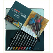 Cretacolor AquaStic Oil Pastel Sets metallic colours set of 10