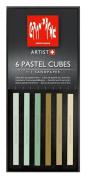 Caran D'ache Pastel Cube Set/6 Almond