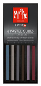 Caran D'ache Pastel Cube Set/6 Darkness