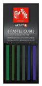 Caran D'ache Pastel Cube Set/6 Forest