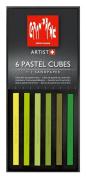 Caran D'ache Pastel Cube Set/6 Meadow