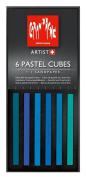 Caran D'ache Pastel Cube Set/6 Ocean