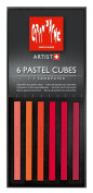 Caran D'ache Pastel Cube Set/6 Red Berries