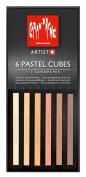 Caran D'ache Pastel Cube Set/6 Skintones