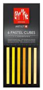Caran D'ache Pastel Cube Set/6 Sunflower