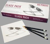 Tombow Mono Professional Drawing Pencils, Class Pack, 25 Each HB/B/2B/3B/4B/6B Degrees
