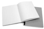 Stitch Bound Blank Sketch Book- Black Spine 21cm x 30cm