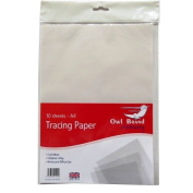 A4 Tracing / Transfer Paper - Pack of 10 - Size 297mm X 210mm