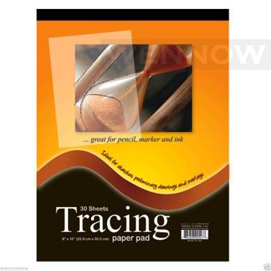 "Wennow ""23cm x 30cm Premium Quality Tracing Paper Pad 30 Sheets"