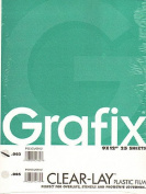 Grafix Clear-Lay Acetate Alternative 23cm . x 30cm . .003 thick pad of 25
