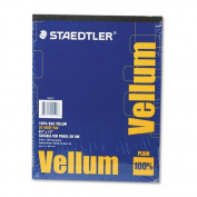 Staedtler Mars Vellum Paper, 16#, Rag, 22cm x 28cm , Plain, 50 Sheets per Pad